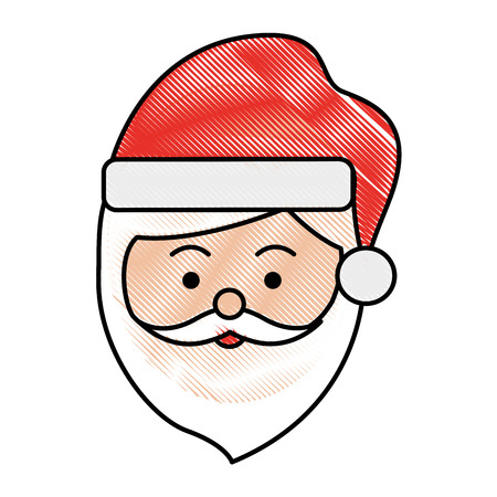 santa claus head christmas related icon image vector illustration design  Ilustrace