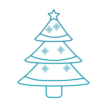 christmas tree decoration traditional holiday vector illustration
