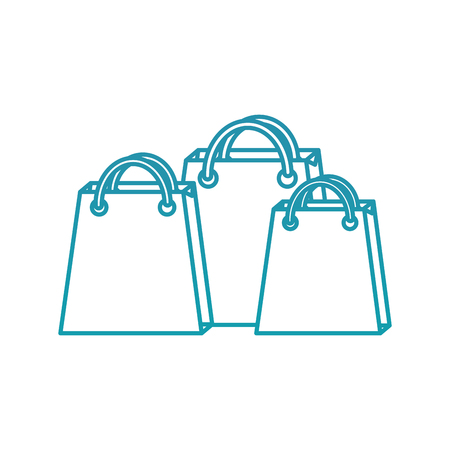 set of empty christmas paper shopping bag vector illustration