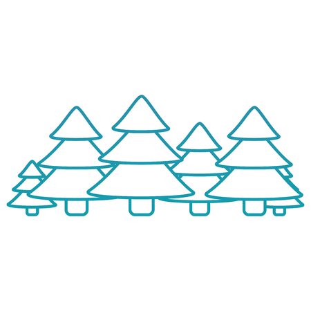 christmas trees pine decoration traditional holiday vector illustration