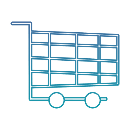 shopping cart online marketing chirstmas design vector illustration Illustration