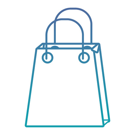 christmas paper bag gift shopping season vector illustration Illusztráció