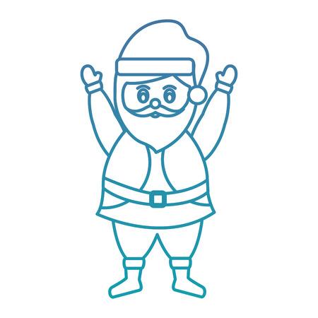 재미있는 산타 클로스 캐릭터 화려한 수염 축하 메리 크리스마스 벡터 일러스트 레이션 일러스트