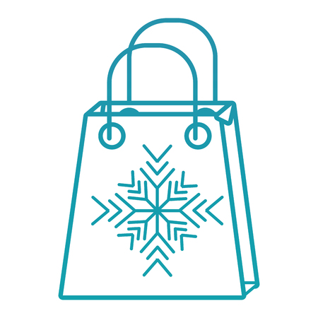 christmas paper bag gift shopping season vector illustration Illustration
