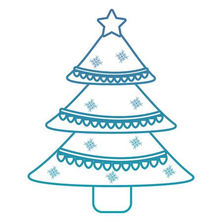 Kerstboom decoratie traditionele vakantie vector illustratie