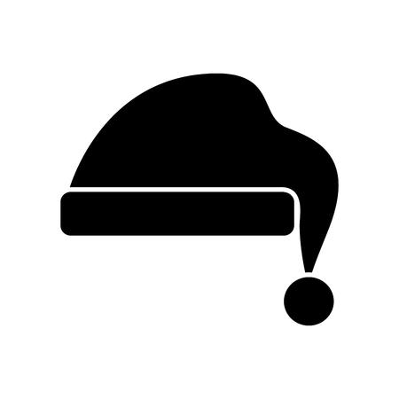 hat for santa christmas celebration vector illustration