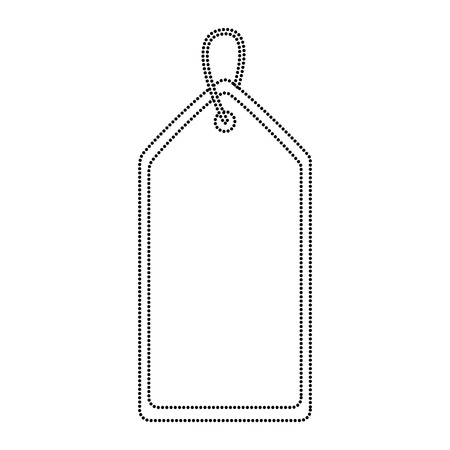 blank tag icon image vector illustration design  black dotted line