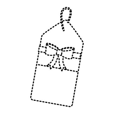Icône de balise blank image design noir pointillé ligne web Banque d'images - 90164145