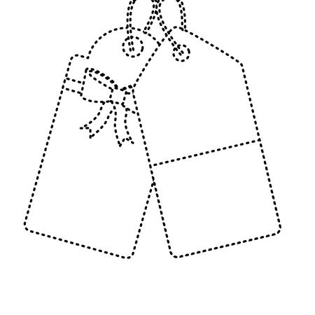 lege tag pictogram afbeelding vector illustratie ontwerp zwarte stippellijn