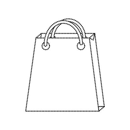 shopping bag icon image vector illustration design  black dotted line