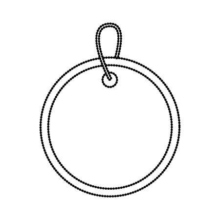 Icône de balise blank image design noir pointillé ligne web Banque d'images - 90144688