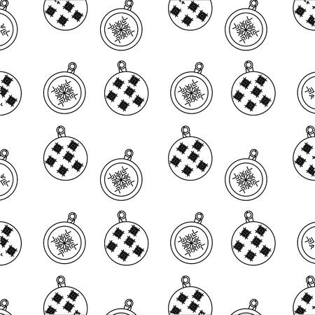 装飾的なクリスマス ボール星の飾りのシームレスなパターン画像ベクトル イラスト