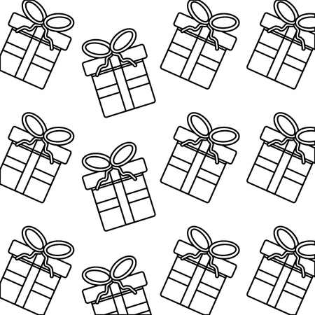 christmas gift present boxes wrapped seamless pattern image vector illustration Illustration