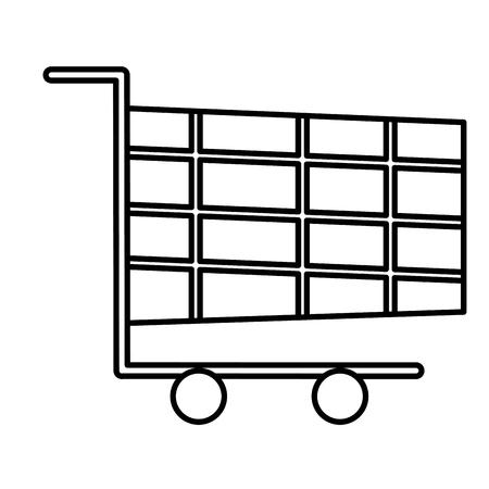 shopping cart online marketing chirstmas design vector illustration Stock Vector - 90144979
