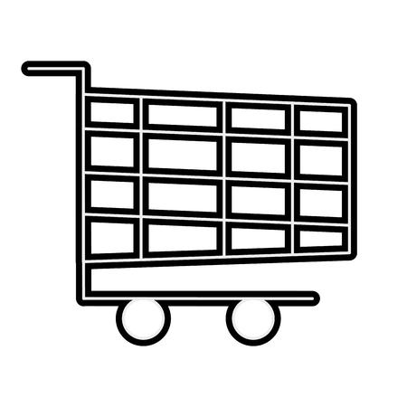 shopping cart online marketing chirstmas design vector illustration Stock Vector - 90145027