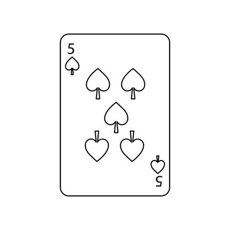포커 게임 카드 스페이드 카지노 도박 아이콘 벡터 일러스트 레이션 스톡 콘텐츠 - 90154881