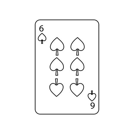 Naipe poker naipe naipe icono vector Foto de archivo - 90154883