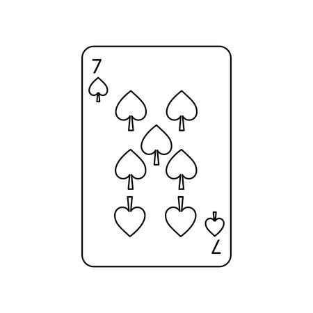火かき棒のトランプ スペード カジノ アイコン ベクトル図