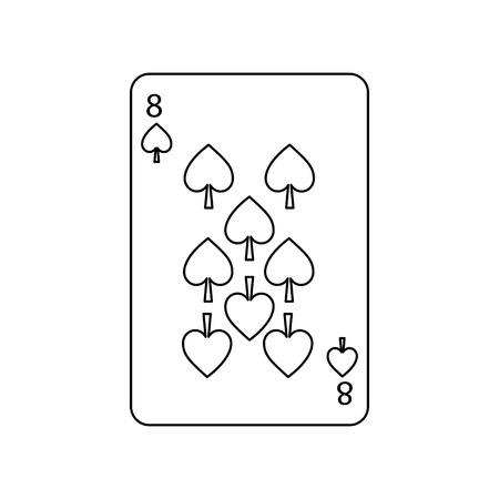 poker speelkaart schoppen casino gokken pictogram vectorillustratie