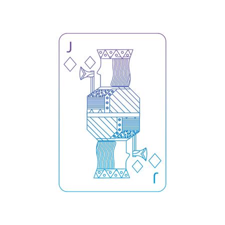 Jack der Diamantikonen-Vektorillustration Standard-Bild - 90155149