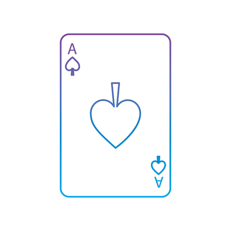 Ace of spades playing cards icon vector illustration