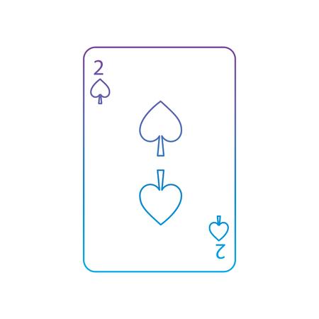 Due di picche illustrazione di vettore dell'icona della carta da gioco Archivio Fotografico - 90155150