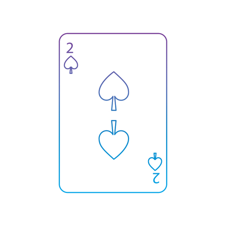 Two of spades playing card icon vector illustration