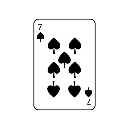 Sieben Spaten Französisch Spielkarten verwandte Symbol Bild Vektor Illustration Design Standard-Bild - 90155702