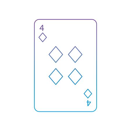Quatre de diamants ou des outils contenant des cartes connexes icône connexes image design illustration numérique à l & # 39 ; ombre bleue vecteur de conception Banque d'images - 90155023