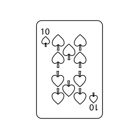 Tarjeta de juego de póker espada icono de vector de juego de casino ilustración Foto de archivo - 90156050