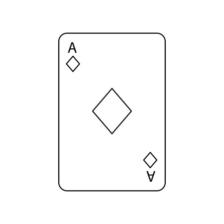 poker casino ace diamond card playing icon vector illustration