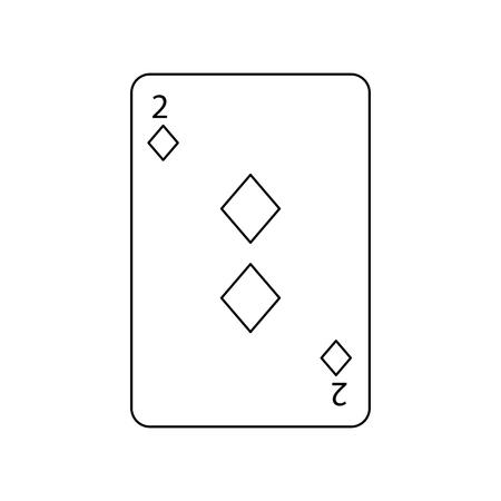 다이아몬드 포커 카드 카지노 아이콘 벡터 일러스트 레이 션의 두