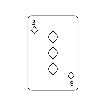 카드 테마 카지노 벡터 일러스트 레이 션을 재생하는 다이아몬드의 세