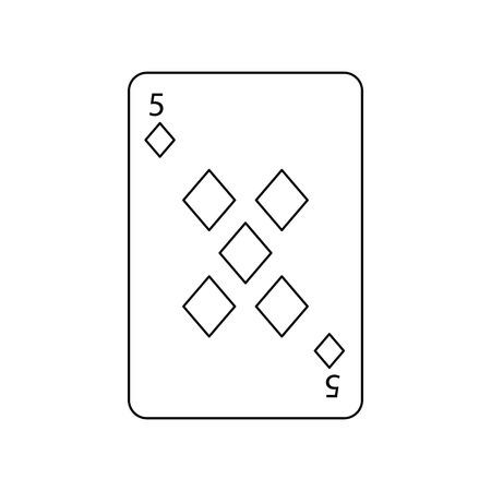 火かき棒のトランプ ダイヤモンド カジノ アイコン ベクトル図  イラスト・ベクター素材