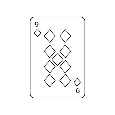 Ilustración del vector del icono del casino del diamante del naipe del póker Foto de archivo - 90155712