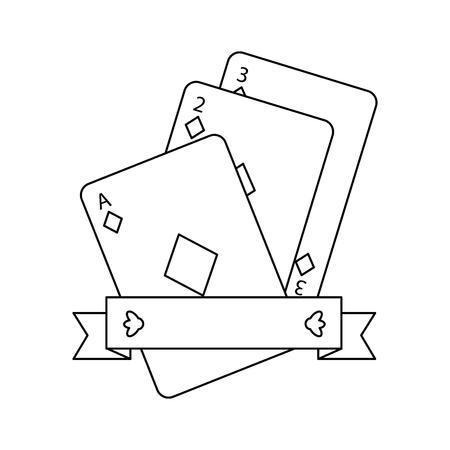 poker cards diamond casino banner design vector illustration