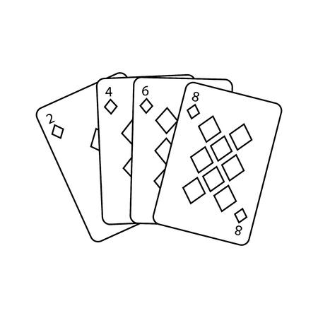 poker cards casino deck gambling design vector illustration