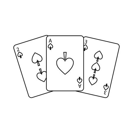 poker cards spade casino deck gambling design vector illustration Illustration