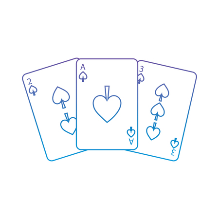 spades suit french playing cards related icon icon image vector illustration design  purple to blue ombre line