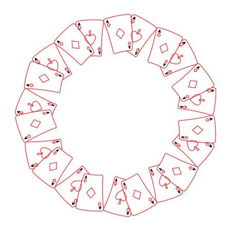 Cartas de póquer j forma redonda ilustración vectorial de diseño Foto de archivo - 90162313