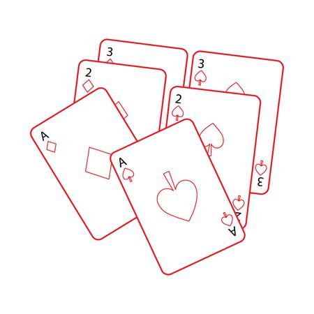 Plataforma de cartas de poker conceito de ilustração do jogo Foto de archivo - 90184380