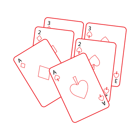 poker deck of cards gambling concept vector illustration Illustration