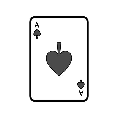 poker casino ace spade card playing icon vector illustration Иллюстрация