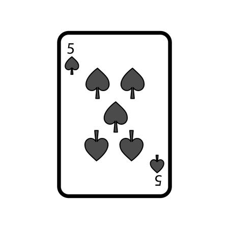 poker playing card spade casino gambling icon vector illustration Illusztráció