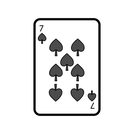 poker playing card spade casino gambling icon vector illustration Çizim