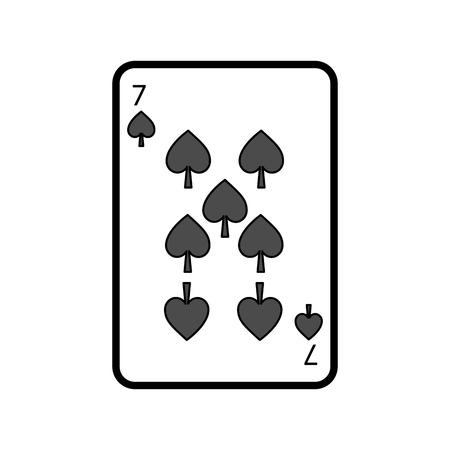 poker playing card spade casino gambling icon vector illustration Stock Illustratie