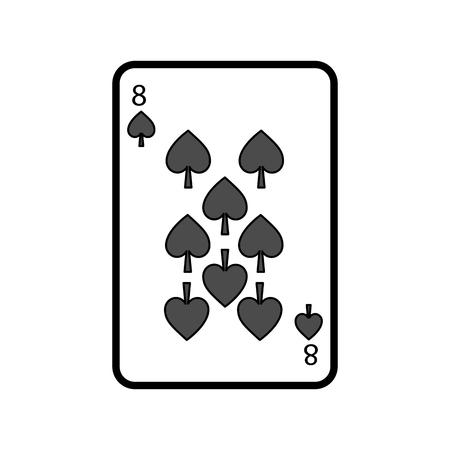 poker playing card spade casino gambling icon vector illustration Vettoriali