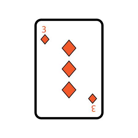 ダイヤモンドのトランプのテーマのカジノの 3 つのベクトル イラスト