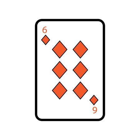 poker playing card diamond casino icon vector illustration
