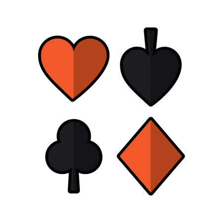 playing card spade heart club diamond suit vector illustration